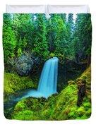 Koosa Falls, Oregon Duvet Cover