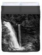Sahalie Falls No. 4 Bw Duvet Cover