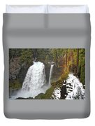 Sahalie Falls, Oregon Duvet Cover