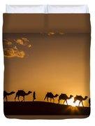 Sahara Desert Sunset Duvet Cover
