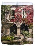 Saignon Fountain Provence  Duvet Cover