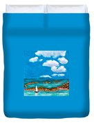 Sail Around The Islands Duvet Cover