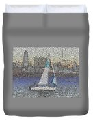 Sail At Sunset Duvet Cover