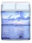 Sail Away Devils Island Duvet Cover