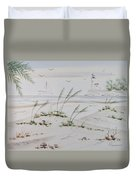 Sail Boat And Sea Oat 1 Duvet Cover