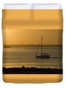 Sail Boat Sunset Duvet Cover