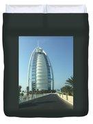 Sail-shaped Silhouette Of Burj Al Arab Jumeirah  Duvet Cover