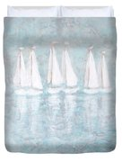 Sailaway By V.kelly Duvet Cover