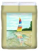 Sailboat Reflection Duvet Cover