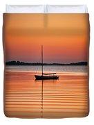 Sailboat At Sunset Duvet Cover