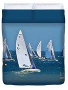 Sailboat Championship Racing 2 Duvet Cover
