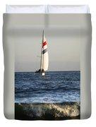Sailboat Coming Ashore 1 Duvet Cover