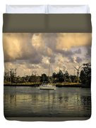 Sailboat In Georgetown Duvet Cover
