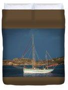 Sailboat In Iona Bay Duvet Cover