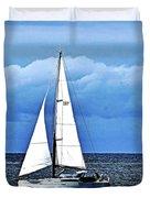 Sailboat No. 143-1 Duvet Cover