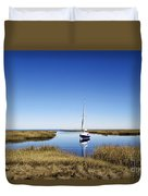 Sailboat On Cape Cod Bay Duvet Cover