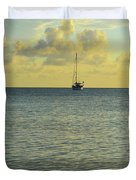 Sailboat On The Horizon Duvet Cover