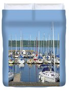 Sailboat Reflections Duvet Cover