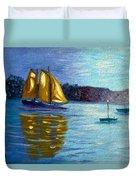 Sailboat-  Sailing- Come Sail Away Duvet Cover