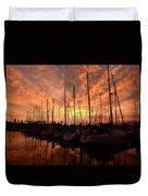 Sailboat Sunset Duvet Cover