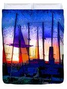 Sailboats At Rest Duvet Cover