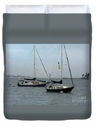 Sailboats In The Inlet Duvet Cover