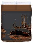 Sailing And Fishing 2 Duvet Cover