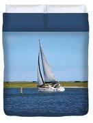 Sailing At Masonboro Island Duvet Cover