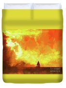 Sailing Away From The Sun Duvet Cover