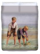 Sailing Boats  Duvet Cover by Edith Hume