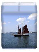 Sailing Boston Duvet Cover