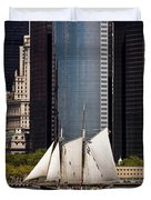 Sailing By Downtown Duvet Cover