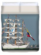Sailing By The Battery Duvet Cover