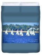 Sailing Charleston Harbor Duvet Cover
