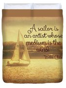 Sailing Chiles Duvet Cover