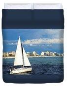 Sailing Destin, Fl Duvet Cover