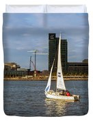 Sailing Downtown Duvet Cover