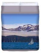Sailing In Alaska Duvet Cover