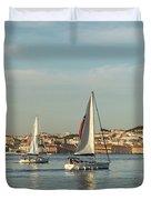 Sailing In Lisbon Portugal Duvet Cover