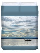 Sailing In Seattle Duvet Cover