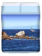 Sailing Monterey Bay Duvet Cover