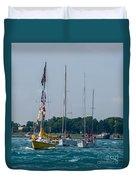 Sailing North Duvet Cover