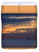 Sailing On A Paint Brush Duvet Cover
