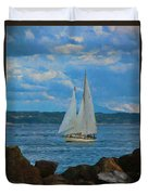 Sailing On A Summer Day Duvet Cover