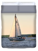 Sailing On Lake Murray Sc Duvet Cover
