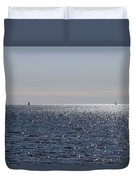 Sailing On Lake Pontchartrain Duvet Cover