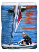 Sailing On Lake Thunderbird Duvet Cover