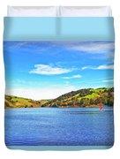 Sailing On San Pablo Dam Reservoir Duvet Cover