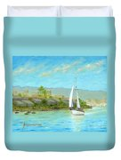 Sailing Out To Sea Duvet Cover