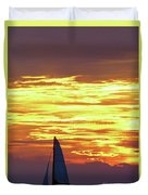 Sailing Past The Sunset Duvet Cover